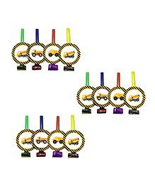 Party Propz Construction Theme Blowouts Multicolour - 12 Pieces