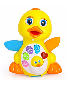 Funblast Musical Duck Toy - Yellow