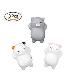 Party Propz Squishy Cat Toy Multicolour - Pack Of 3