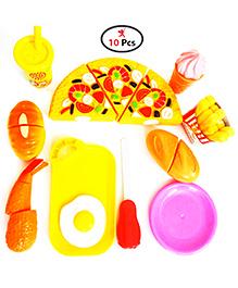 Party Propz Play Food Set Multicolour - 10 Pieces