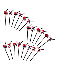 Party Propz Spiderman Themed Straws Red & Black - 20 Pieces