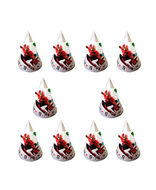 Party Propz Spiderman Themed Party Caps Red - 10 Pieces