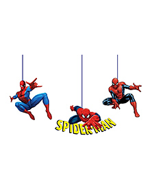 Party Propz Spiderman Themed Ceiling Hangers Red & Blue - 3 Pieces
