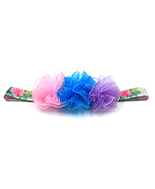 Magic Needles Netted Floral Motif Headband - Multicolour