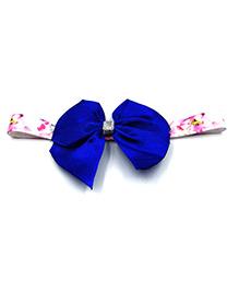 Magic Needles Printed Headband With Bow Motif - Royal Blue