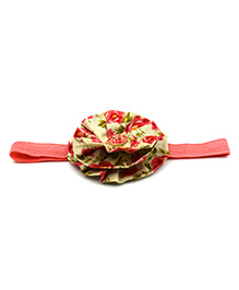Magic Needles Headband With Layered Floral Motif - Pink