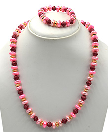 Magic Needles Beads Design Necklace & Bracelet Set - Multicolor