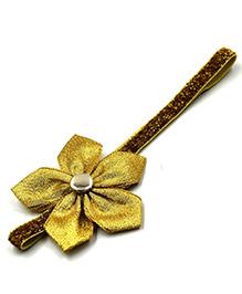 Magic Needles Headband Flower Applique - Golden