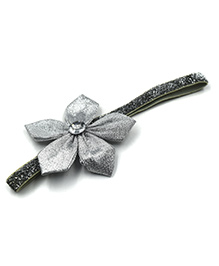 Magic Needles Headband Flower Applique - Silver