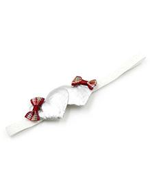 Magic Needles Headband Heart & Bow Appliques - Silver