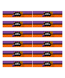 Party Propz Halloween Themed Bottle Wrappers Set Of 12 - Purple & Orange