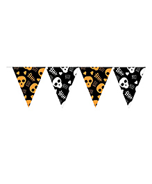 Party Propz Halloween Themed Flag Banner - Black