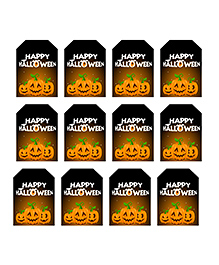 Party Propz Halloween Themed Thank You Tags Yellow - 12 Pieces