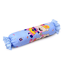Cartoon Printed Baby Bolster - Blue