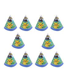 Party Propz Pokemon Themed Paper Caps Blue - 10 Pieces