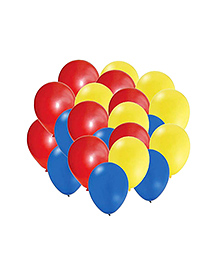 Party Propz Pokemon Themed Plain Balloon Multicolour - 25 Pieces