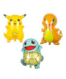 Party Propz Pokemon Foil Balloon Birthday Theme - 3 Set