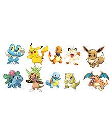 Party Propz Pokemon Theme Cardstock Cutout Multicolor - 10 Pieces