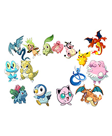 Party Propz Pokemon Theme Photo Booth Props - 15 Pieces