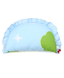 Baby Pillow Leave Print - Blue