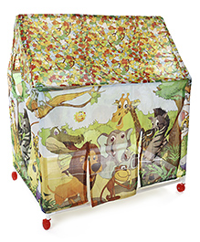 Kids Zone Play Tent House Jungle Print - Multi Color