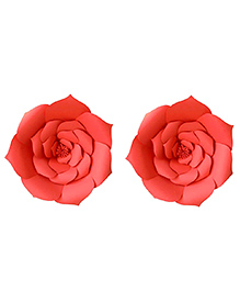 Party Propz Paper Flower Rose For Party Decoration Red -  Set Of 2 Pieces