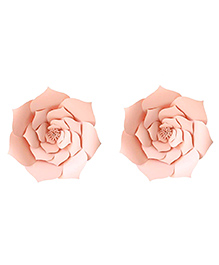 Party Propz Paper Flower Rose For Party Decoration Light Pink - Set Of 2 Pieces