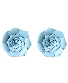 Party Propz Paper Flower Rose For Party Decoration Blue -  Set Of 2 Pieces