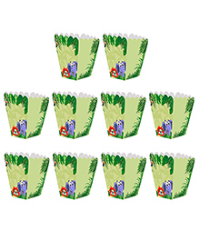 Party Propz Jungle Theme Popcorn Boxes Green - Pack Of 10
