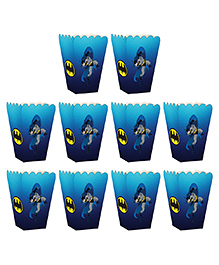 Party Propz Batman Themed Popcorn Box Blue - Pack Of 10