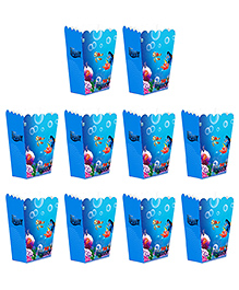 Party Propz Dory Themed Popcorn Box Blue - Pack Of 10