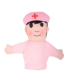 Twisha Nx Nurse Hand Puppet Toy Pink - Height 22 Cm