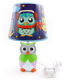 Quirky Monkey Nautical Owl Lamp - Green