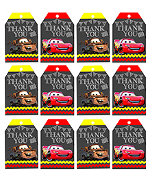 Party Propz Mcqueen Car Themed Thank You Tags Black - 12 Pieces