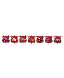 Party Propz Disney Pixar Cars Themed Party Bunting - Red