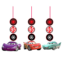 Party Propz Car Theme String Hanging Set Of 3 - Multicolour