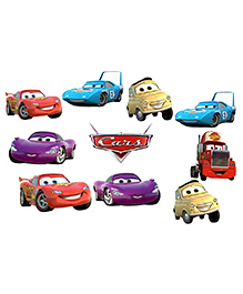 Party Propz Pixar Cars Themed Card Stock Cut Outs Multicolour - 10 Pieces