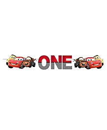 Party Propz Car Themed Age One Party Banner - Red