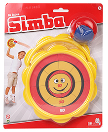 Simba Catch Ball Game Set Of 2 Pack - Yellow & Red