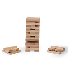 Simba  G&M Wooden Tumbling Tower Brown - 54 Pieces
