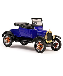 Motormax Die Cast 1925 Ford Model T - TRunabout (Convertible) Toy Car - Blue & Black