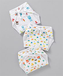 Mee Mee Reusable Baby Cloth Nappies Pack Of 3 - Multicolour