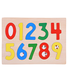 Curtis Toys Wooden Number Puzzle Multicolor - 9 Pieces