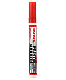 Kores Paint Marker Pen Red - Length 14.5 Cm