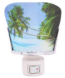 Skylofts EU Plug 3D Beach Design Night Lamp - Blue