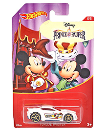Hotwheels Mickey Mouse Torque Twister  Toy Car - White