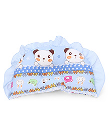 Baby Pillow Panda Print - Blue