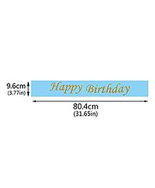Party Propz Happy Birthday Sash - Blue