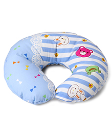 Neck Supporter Pillow Panda Print - Blue