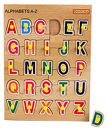 Playmate Wooden Letters Puzzle With Pegs - Multicolour